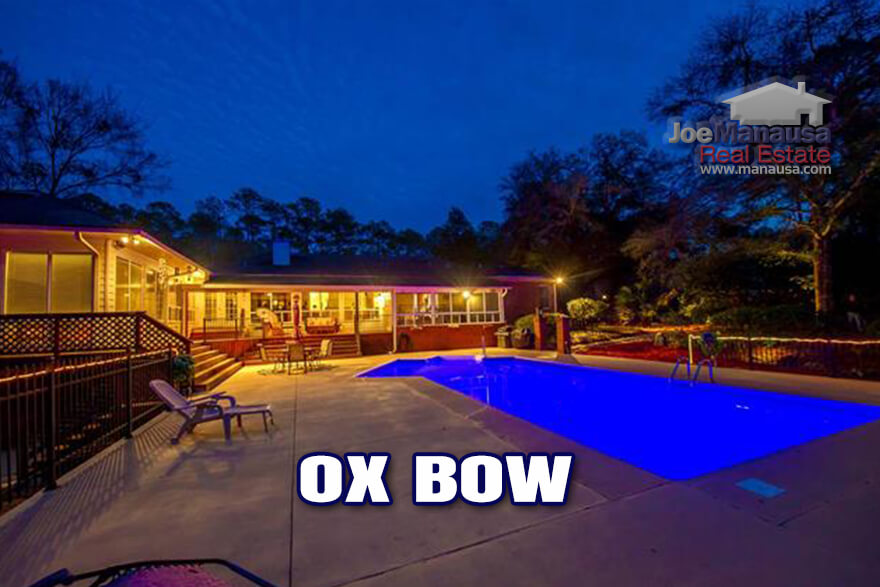 Ox Bow in Northeast Tallahassee is an area within the high-demand 32312 zip code filled with large luxury homes on acreage.
