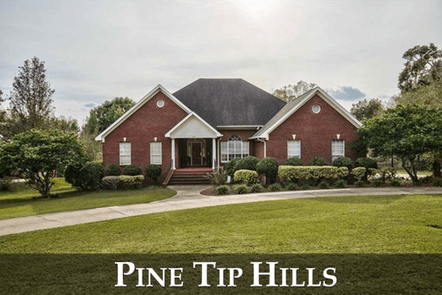 Pine Tip Hills is an often over-looked neighborhood that offers large homes on large lots.