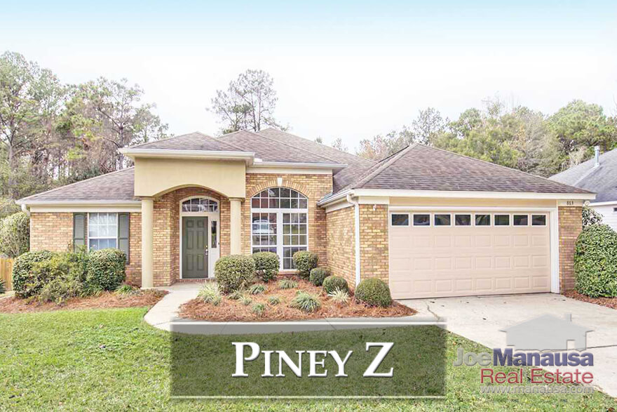 Piney Z Tallahassee: If you favor an active lifestyle, take a look at what you can buy today in Piney Z, a top 5 selling neighborhood that offers a large lake, miles of walking trails, and easy access to both Tom Brown Park and Lincoln High School.