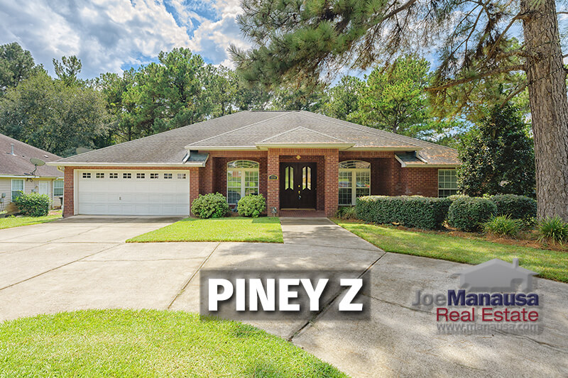 Piney Z in NE Tallahassee has three, four, and five-bedroom homes that have all been built since 1999, coupled with some fine community amenities too.