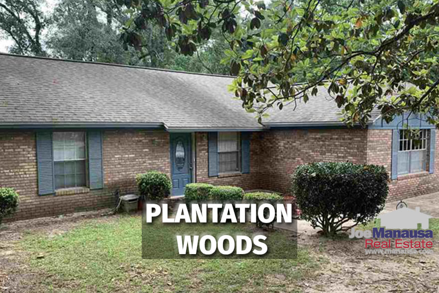 Plantation Woods in Northwest Tallahassee is a neighborhood of more than three hundred single-family detached homes on quarter-acre or more sized parcels of land