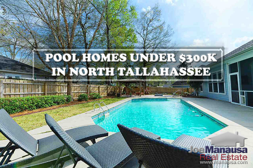 List of all homes for sale with swimming pools, priced under $300K, in North Tallahassee