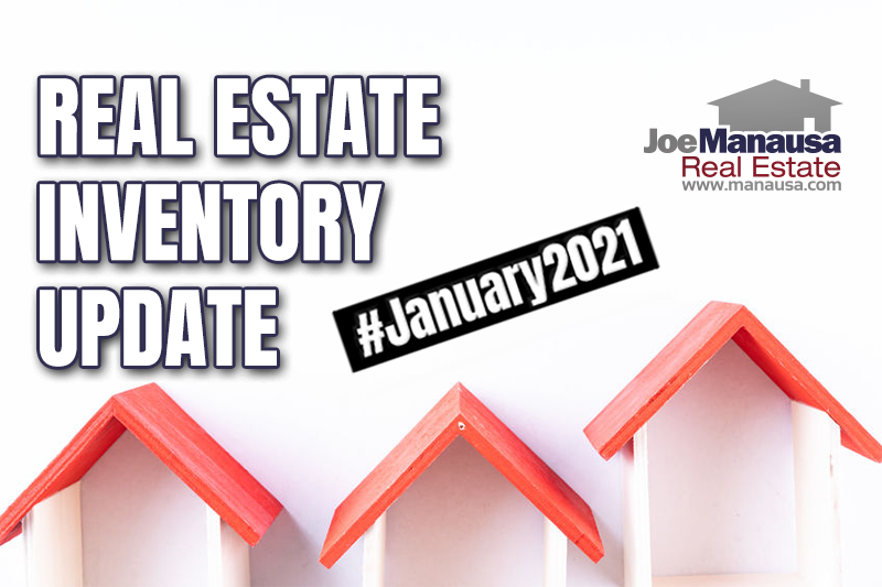 Inventory of homes for sale in Tallahassee January 2021