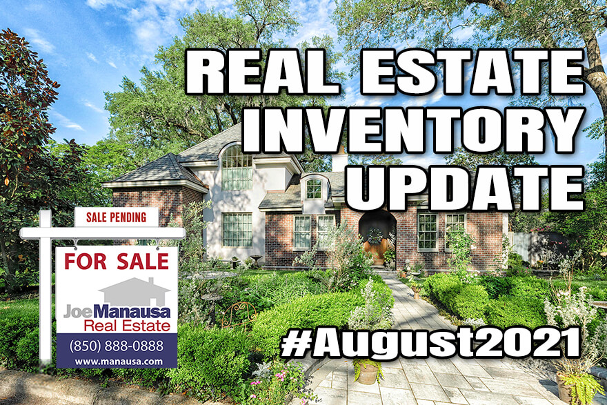 Real estate supply report Tallahassee August 2021