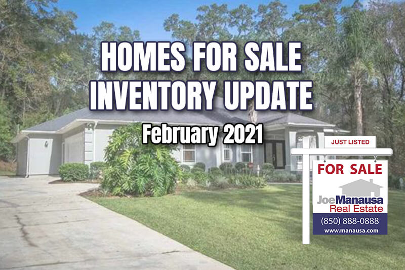 Inventory of homes for sale in Tallahassee February 2021