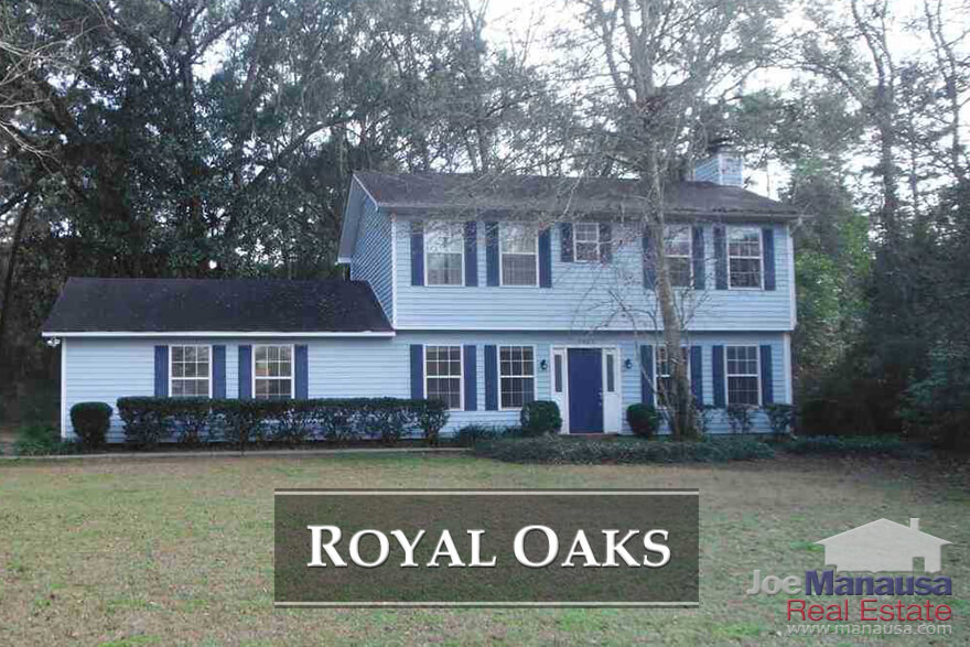 Royal Oaks in Northeast Tallahassee features 3 and 4 Bedroom homes for sale