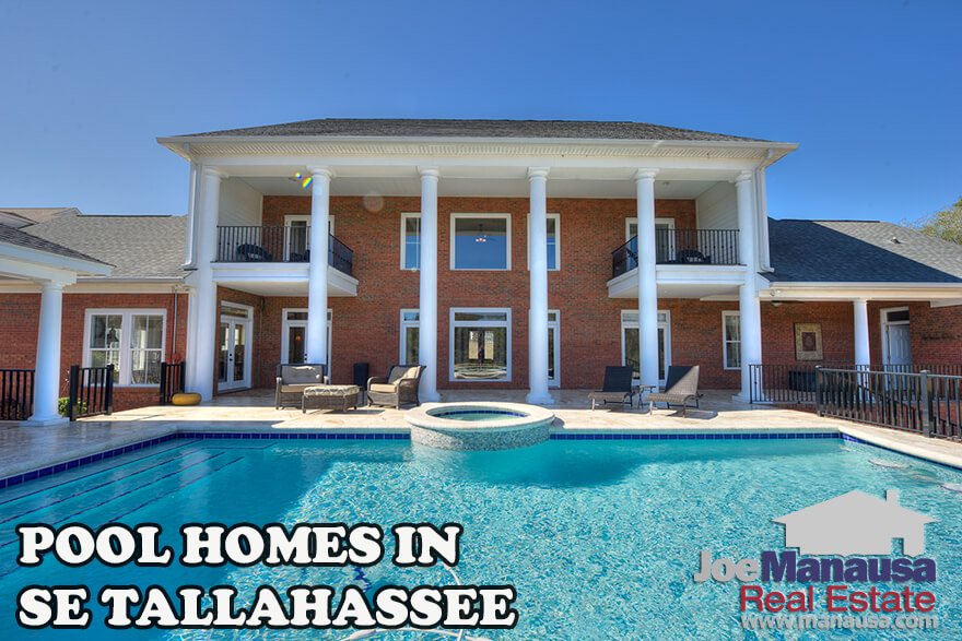 There are not many single-family detached homes for sale with swimming pools in Southeast Leon County, but we've managed to find them all and bring them to you here.