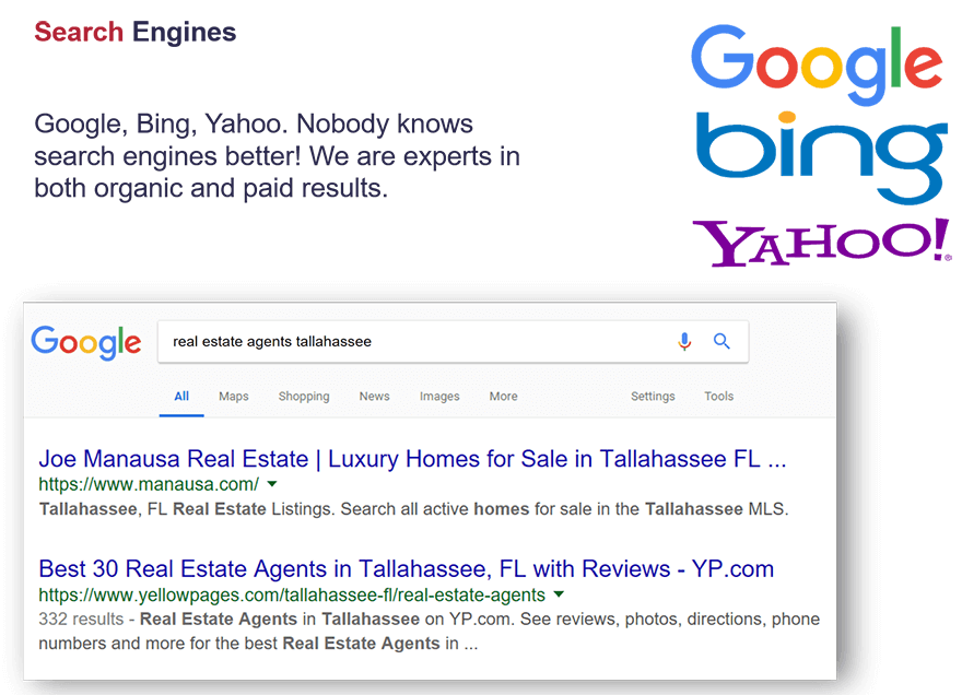 Our website (manausa.com) is the highest rated local real estate site in Tallahassee, and there is nobody else even close