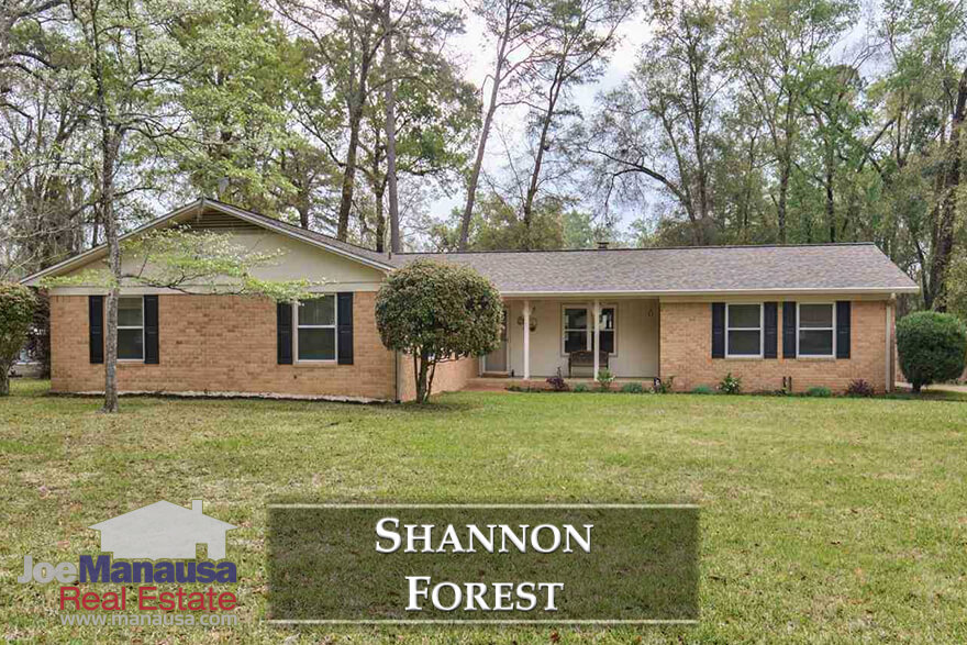 Shannon Forest is situated on the western boundary of Killearn Estates and features the typical Northeast Tallahassee homes that are craved by the majority of today's homebuyers