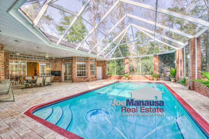 Take a look at the current listings of homes with swimming pools on the west side of Tallahassee, where you can still find a lot of home for the money