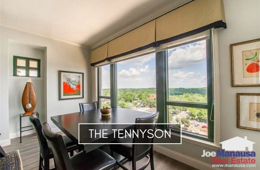 The Tennyson is a 90-unit vertical condominium in downtown Tallahassee which gives its residents a short walk to dining, entertainment, nightlife, and the State Capitol building.