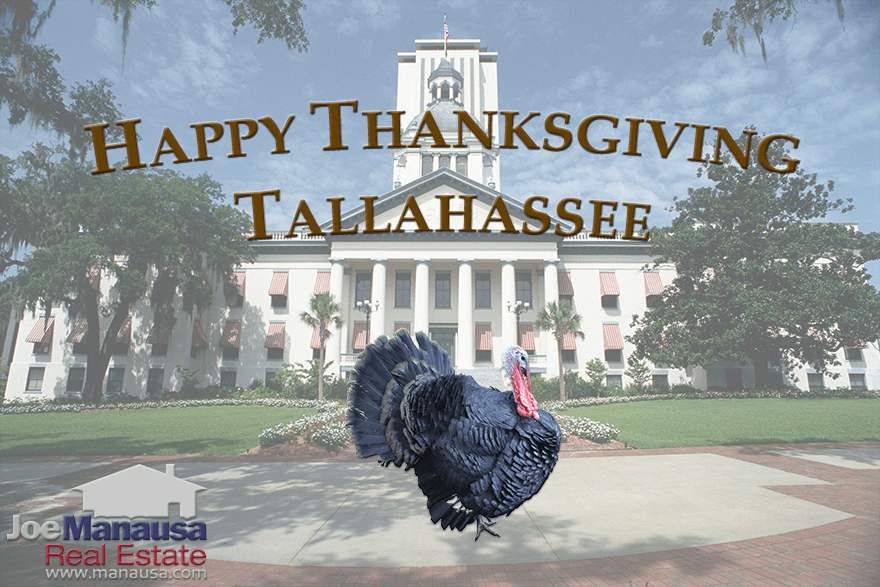 Happy Thanksgiving From Joe Manausa Real Estate in Tallahassee, Florida