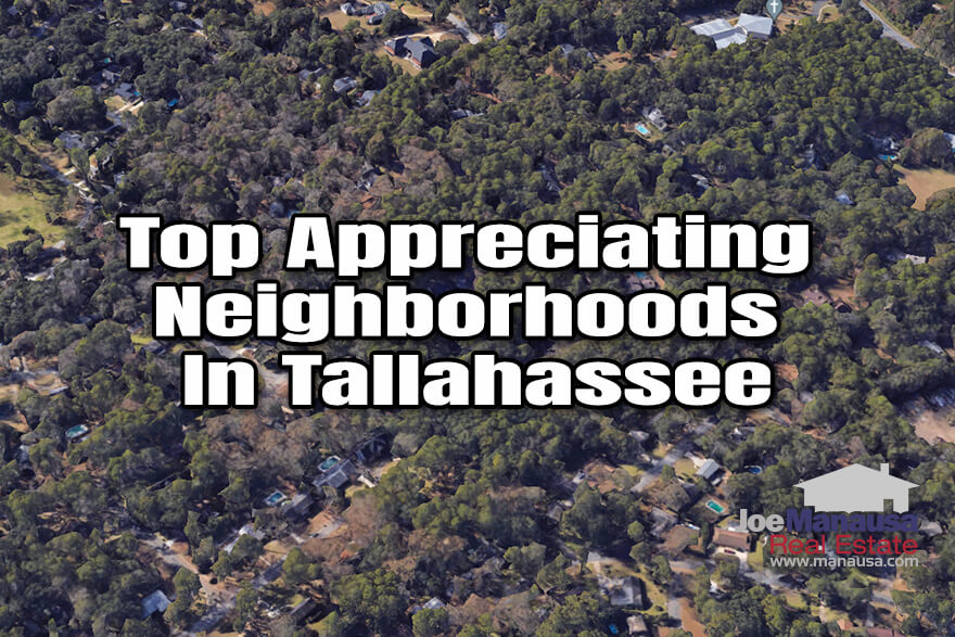 A spotlight of the fastest appreciating neighborhoods in Tallahassee