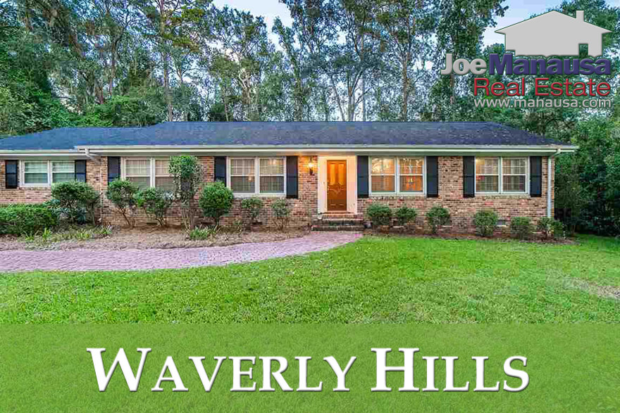 Waverly Hills is a Midtown Tallahassee neighborhood that features 400 homes wrapped around a small pond.