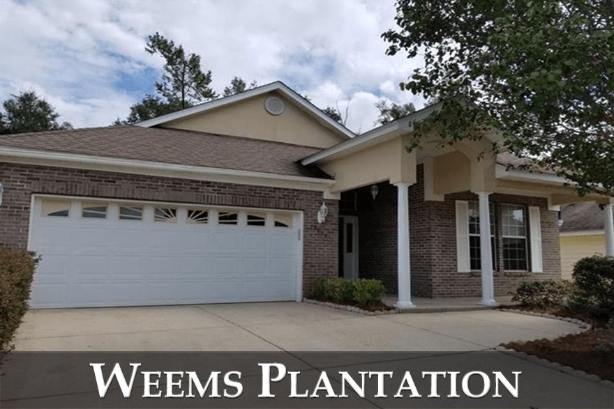 Weems Plantation is a wildly popular neighborhood located in Northeast Tallahassee.