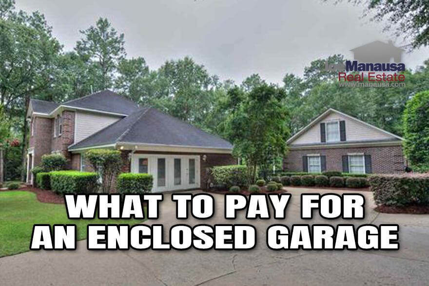 How much value does an enclosed garage add to a home?