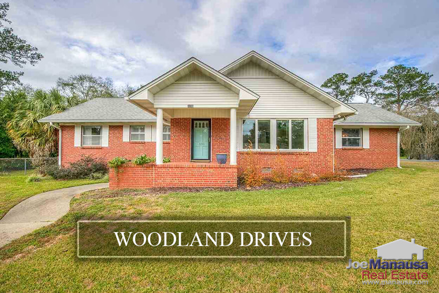 Woodland Drives is a popular SE Tallahassee neighborhood located in the heart of downtown on the west side of Myers Park and Capital City Country Club