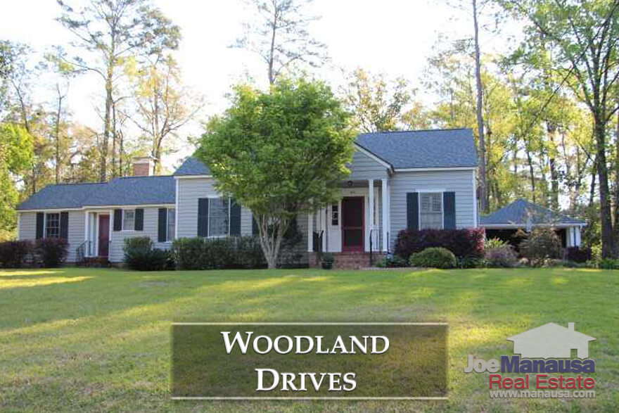 Featuring roughly 450 homes that were built from 1875 to just 6 years ago, Woodland Drives homes have large wooded lots that are within walking distance to shopping, dining, and downtown entertainment