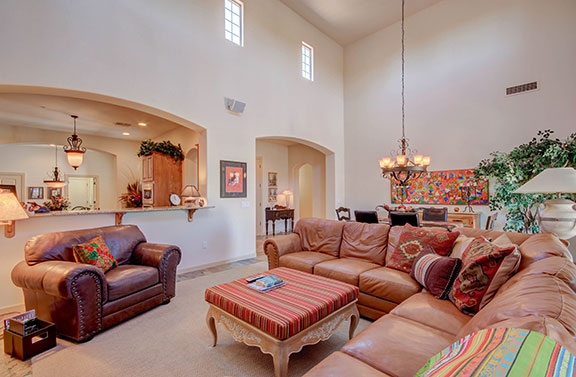 A home staged well will often sell for higher prices