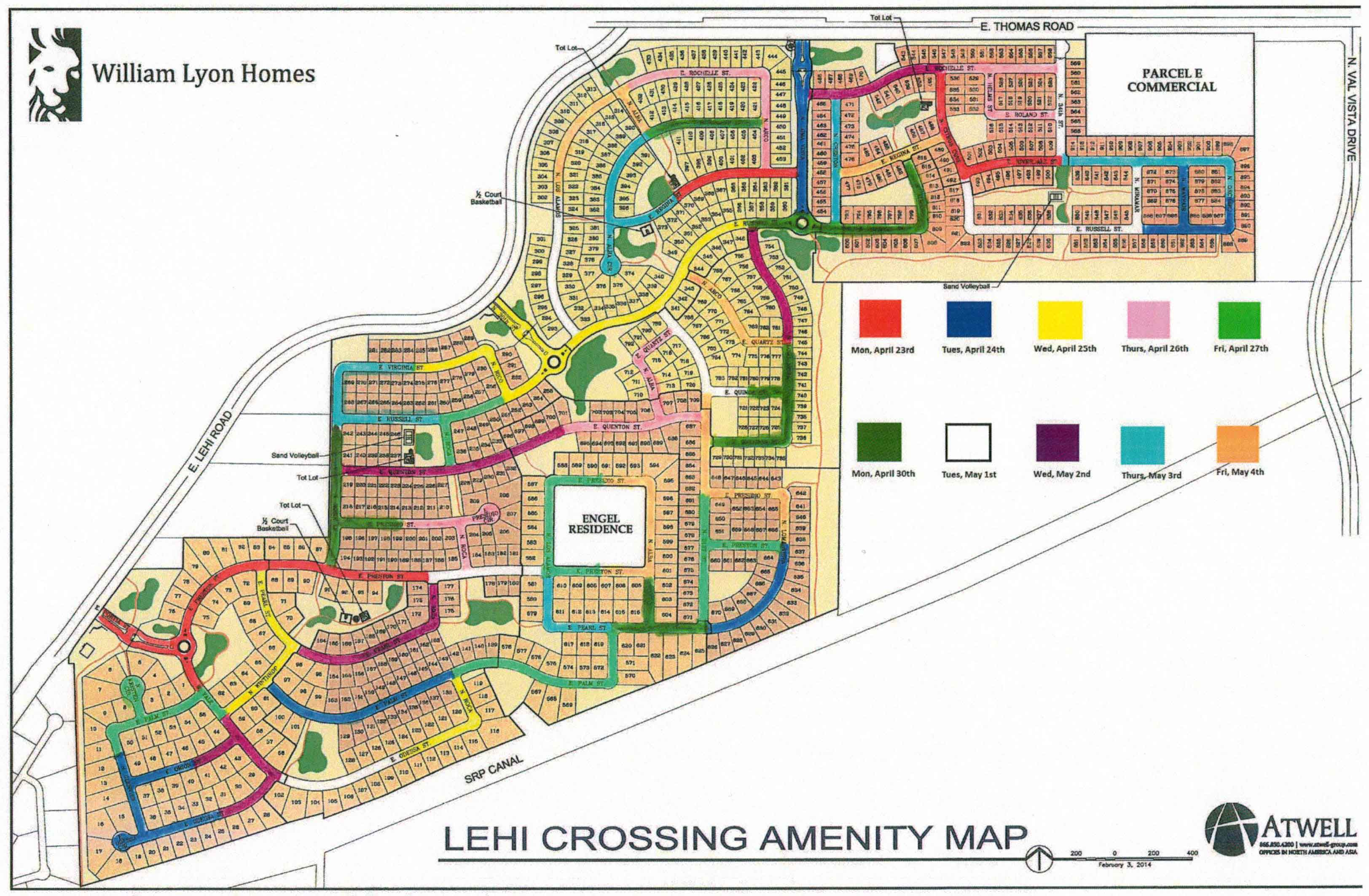 Community Map for Lehi Crossing in Mesa, AZ