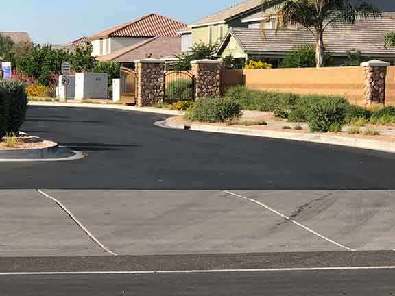 Nice resurfaced roads in Lehi Crossing, Mesa AZ
