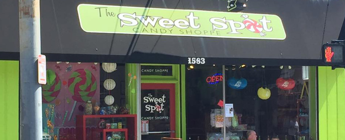 The Sweet Spot Candy Shoppe storefront