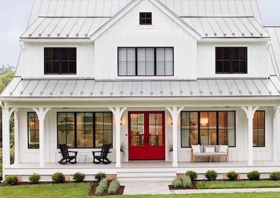 Farmhouse covered porch