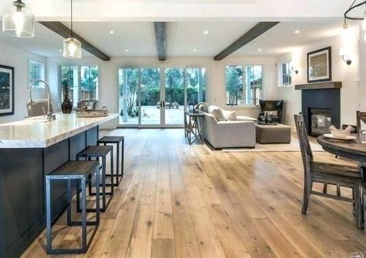 hardwood flooring in farmhouse