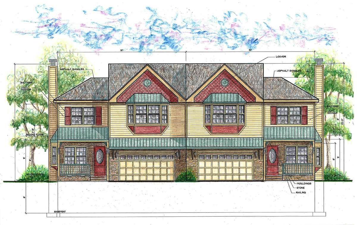 Two-unit townhomes