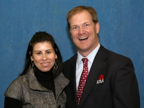 Kristie Smith with Charlie Young, COO of ERA Real Estate