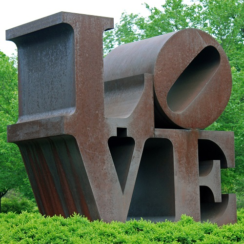 Robert Indiana's Love sculpture at the IMA