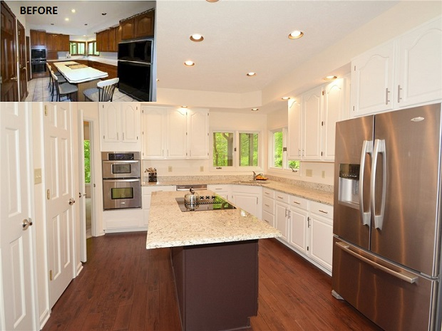 Total kitchen remodel - before and after