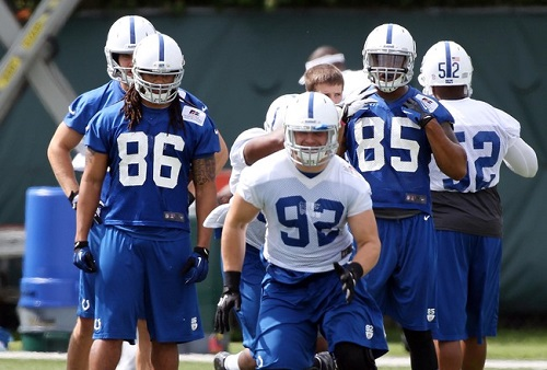 Indianapolis Colts practice