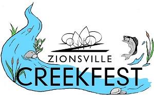 Zionsville Creekfest logo