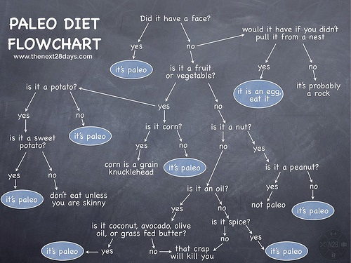Paleo Diet Flowchart