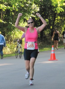 Kristie Smith completes her first duathlon.