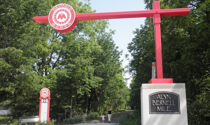 The Monon Trail in Westfield, Indiana