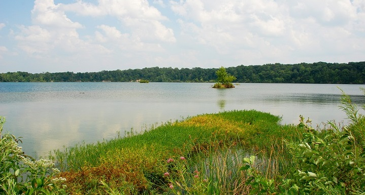 Eagle Creek Reservoir in Pike Township