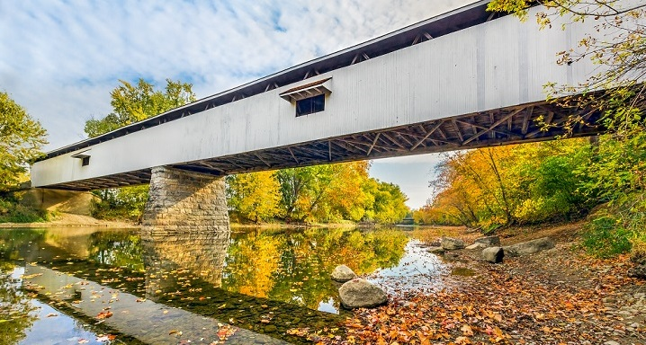 Potter's Covered Bridge in Noblesville, IN