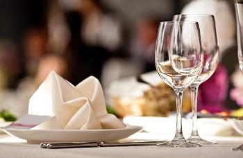 place setting at restaurant