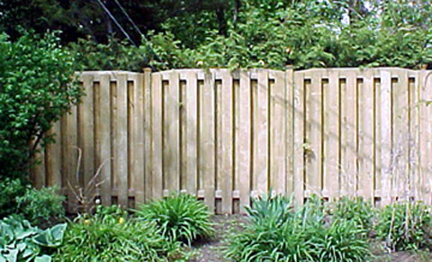 Worn privacy fence