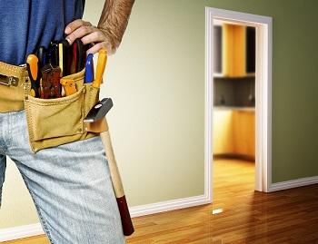 Handy man with tool belt
