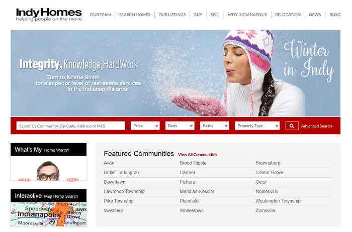 IndyHomes.com homepage