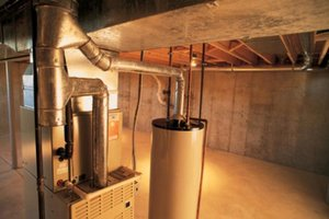 Water heater in basement