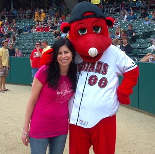 Realtor Kristie Smith and the Indianapolis Indians' Rowdy
