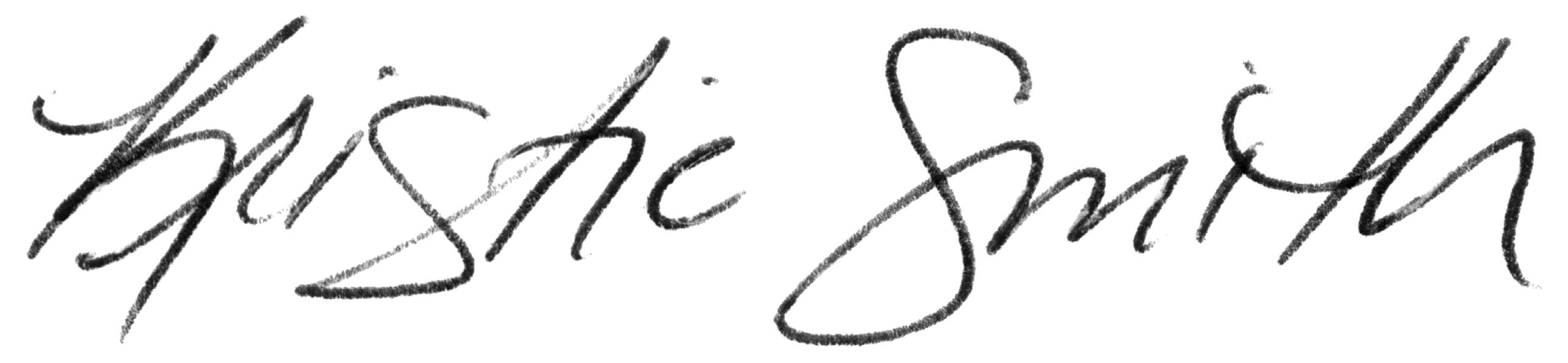 Kristie Smith signature