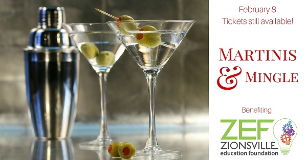 Martinis and Mingle, to benefit Zionsville Education Foundation