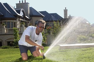 Each spring, check and maintain your sprinkler system.