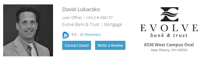 David Lukacsko Evolve Bank and Loans