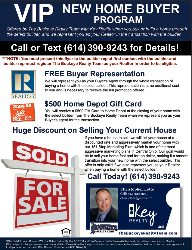 Blacklick Ohio VIP New Home Buyer Program